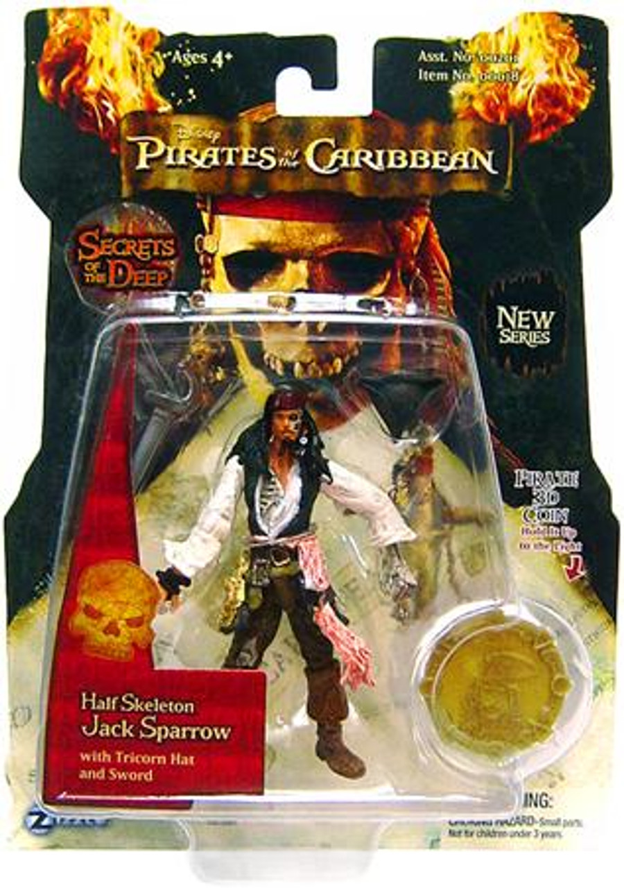 Pirates of the Caribbean Dead Man's Chest Series 3 Jack Sparrow Action Figure [Half Skeleton]
