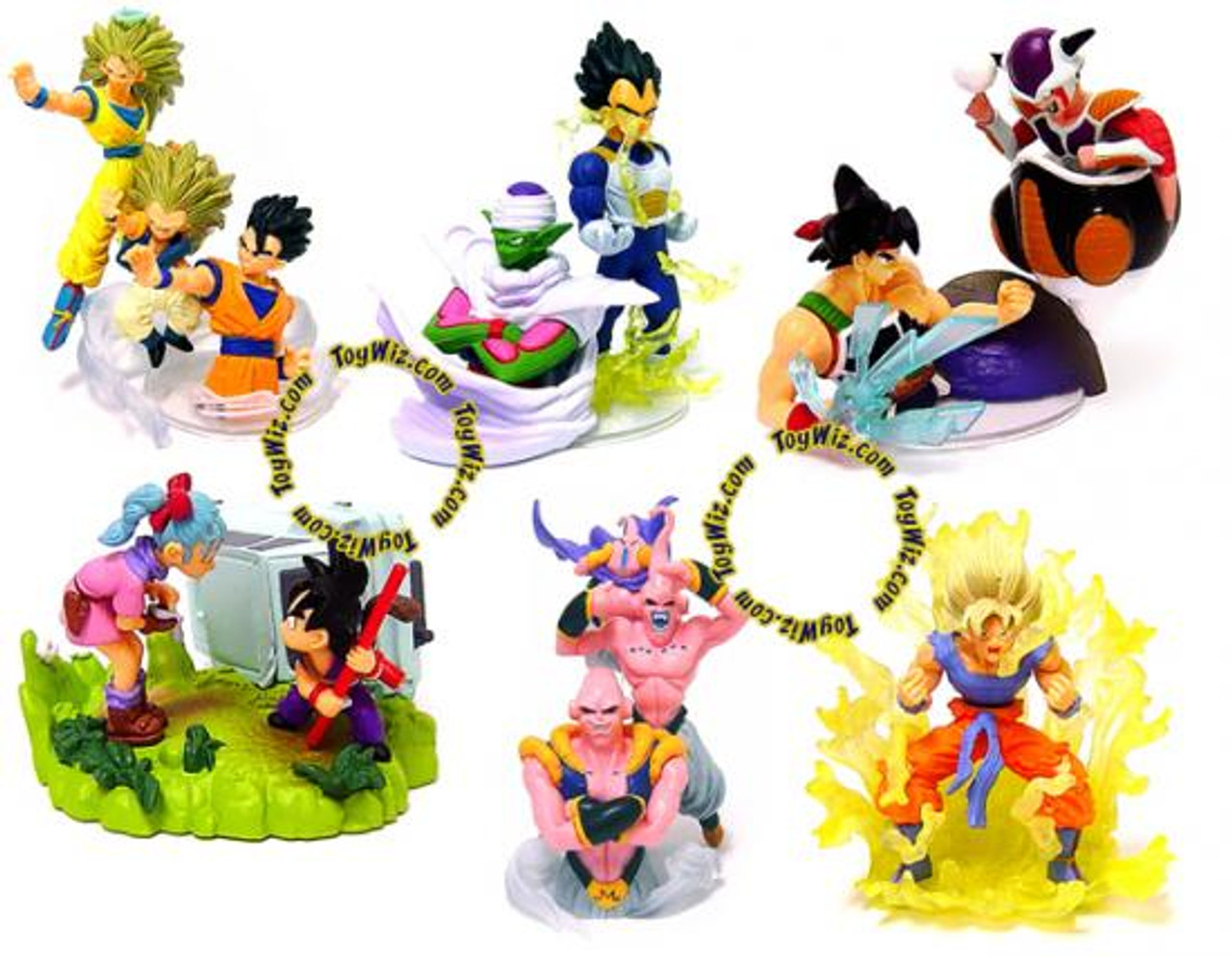 Dragon Ball Z Set of 6 3-Inch PVC FIgures