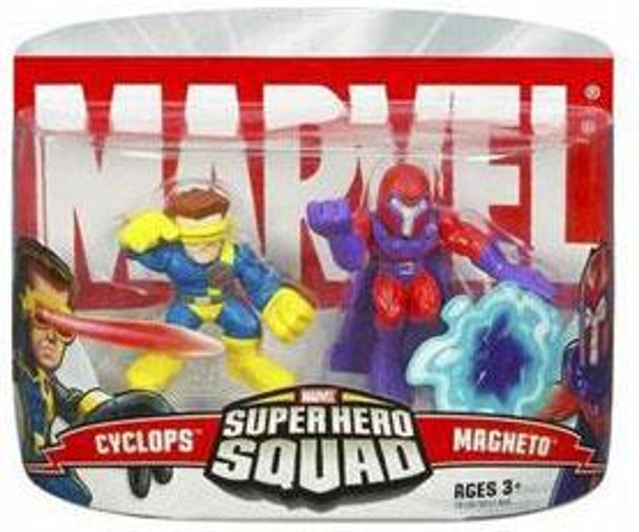 Marvel Super Hero Squad Series 1 Magneto & Cyclops Action Figure 2-Pack