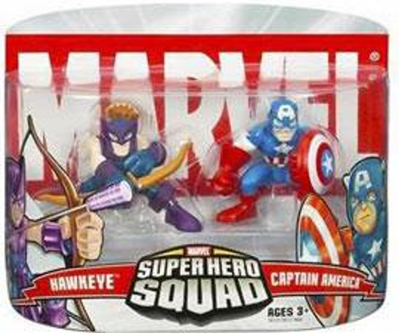 Marvel Super Hero Squad Series 1 Captain America & Hawkeye Action Figure 2-Pack [Yellowed Packaging]