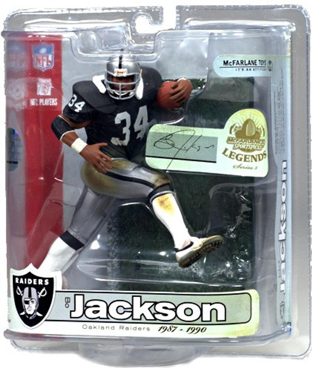 McFarlane Toys NFL Los Angeles Raiders Sports Picks Legends Series 3 Bo Jackson Action Figure