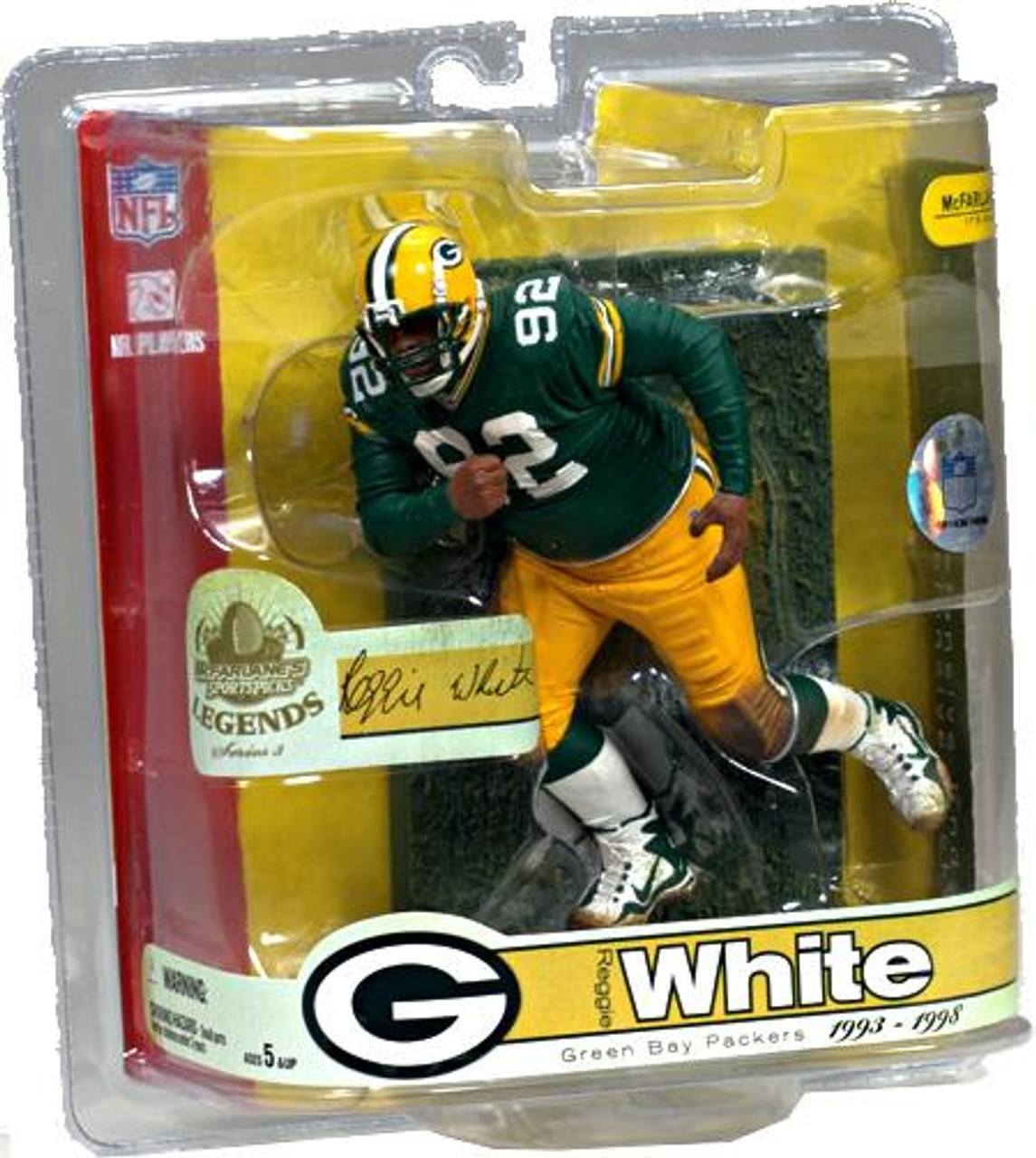 McFarlane Toys NFL Green Bay Packers Sports Picks Legends Series 3 Reggie White Action Figure [Packers]