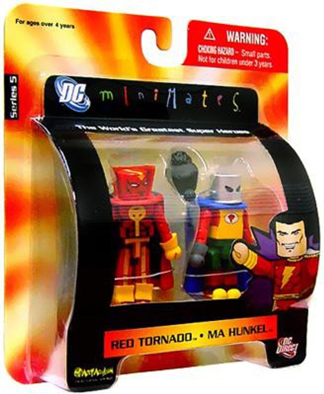 DC Minimates Series 5 Red Tornado & Ma Hunkel Minifigure 2-Pack