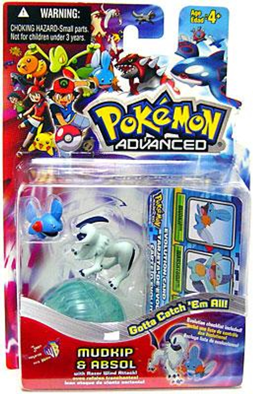 Pokemon Advanced Mudkip & Absol Mini Figure 2-Pack