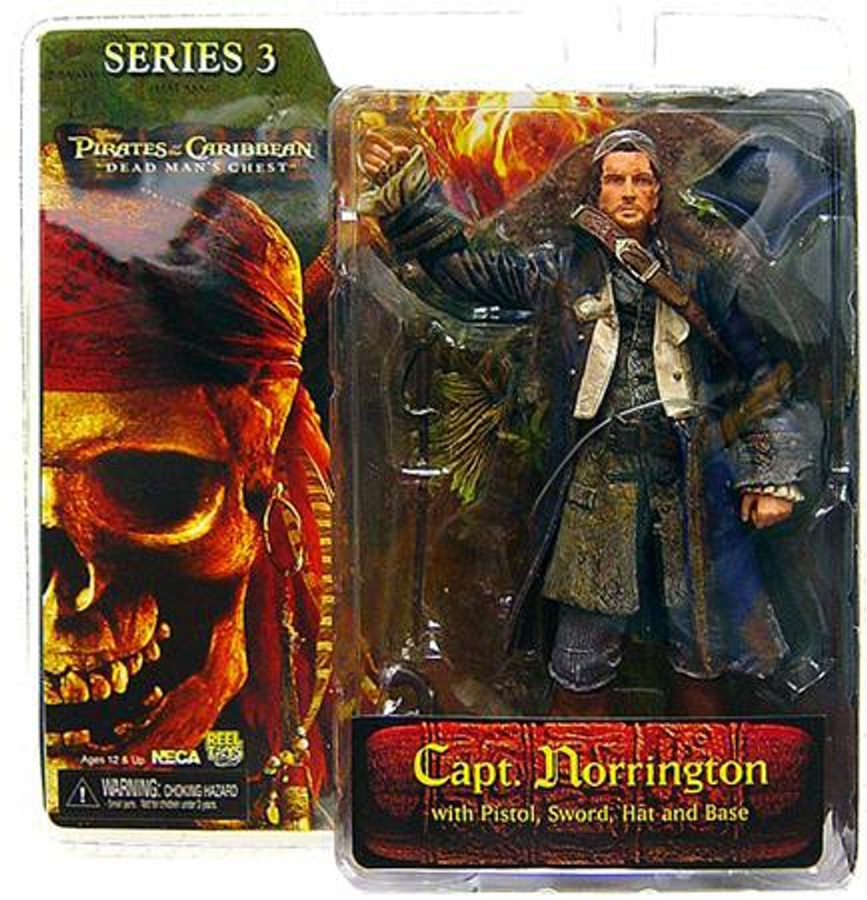 NECA Pirates of the Caribbean Dead Man's Chest Series 3 James Norrington Action Figure