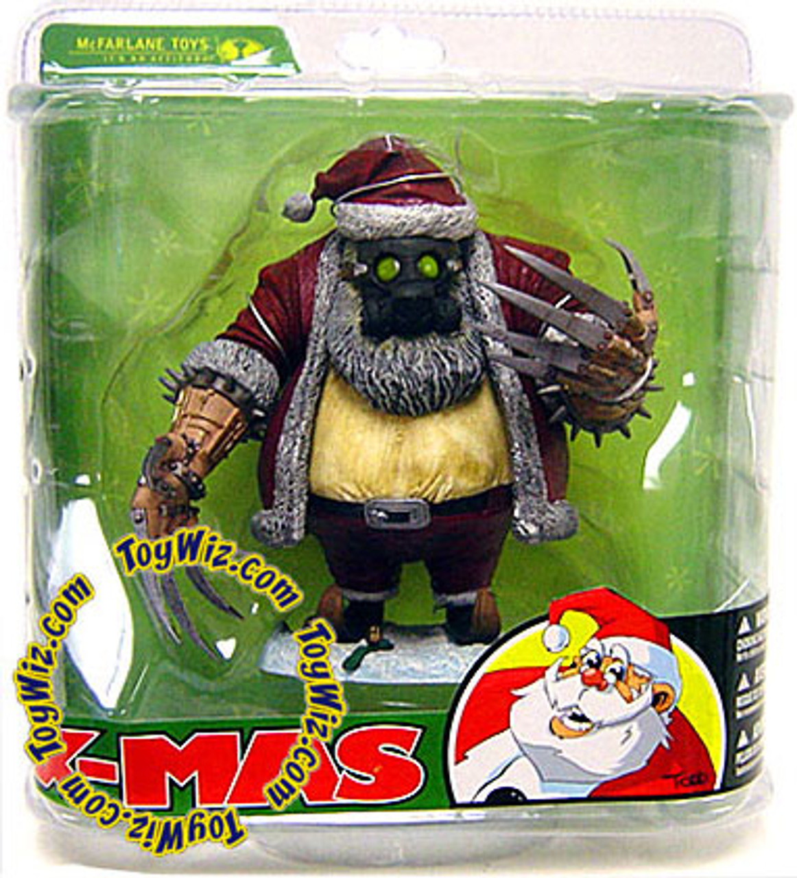 McFarlane Toys Monsters Twisted Christmas Santa Claus Action ...