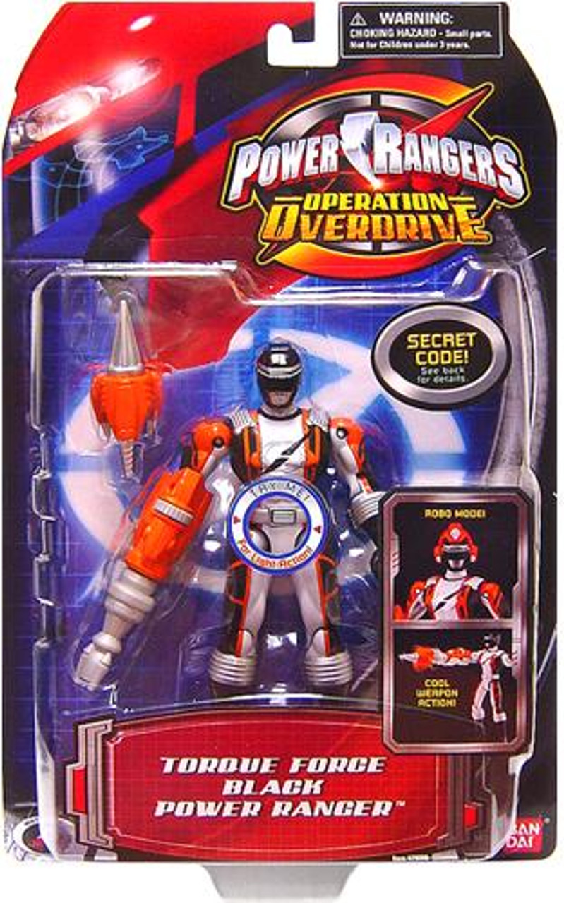 Power Rangers Operation Overdrive Torque Force Black Power Ranger Action Figure