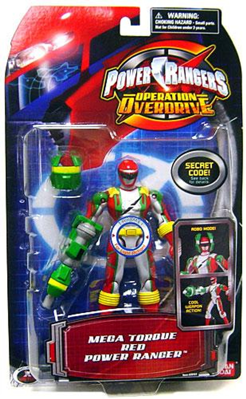 Power Rangers Operation Overdrive Mega Torque Red Power Ranger Action Figure