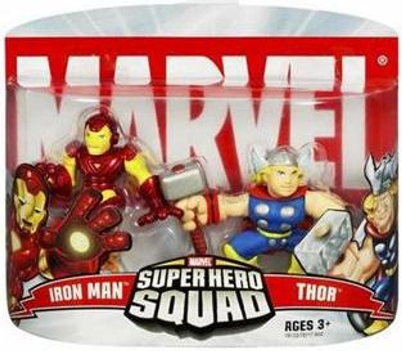 Marvel Super Hero Squad Series 2 Iron Man & Thor Action Figure 2-Pack