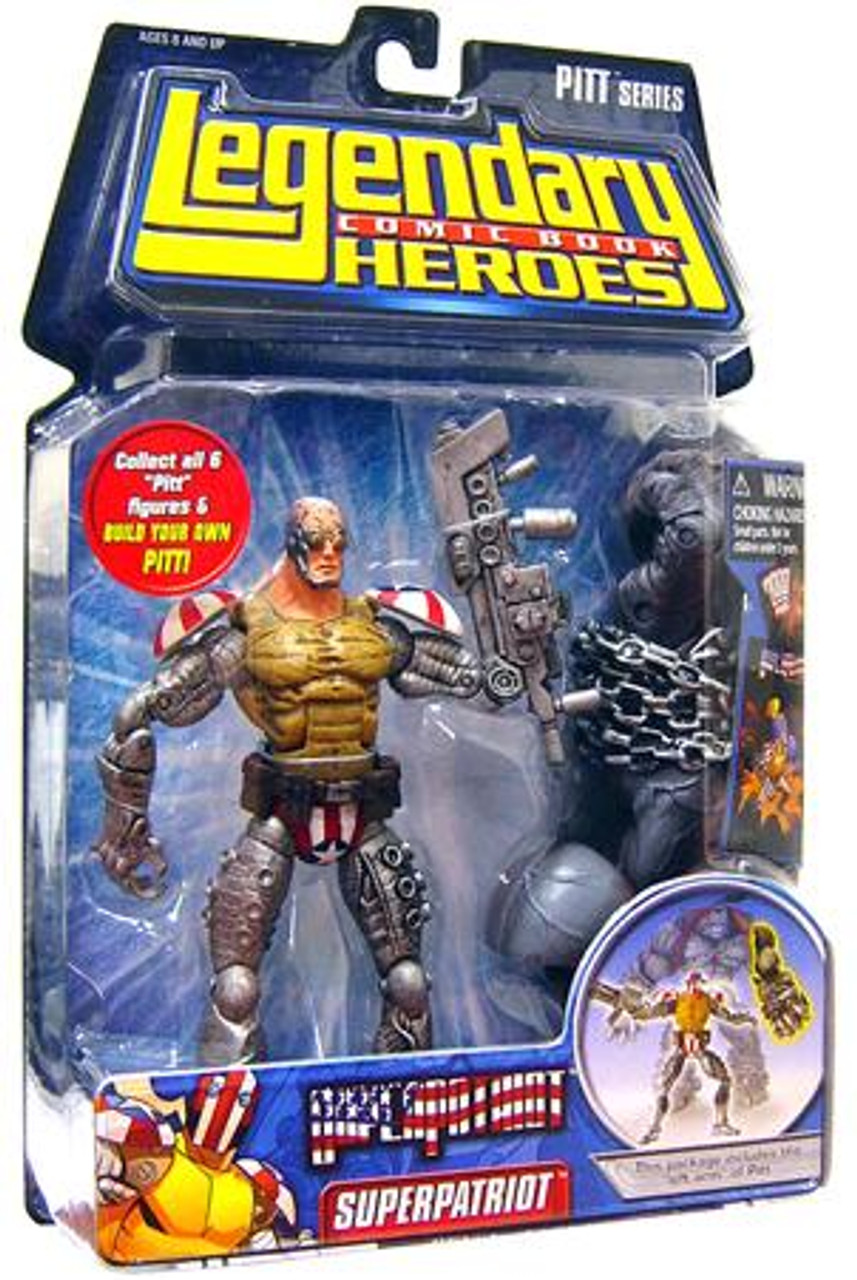 Marvel Legendary Heroes PITT Series Superpatriot Action Figure [Mask Off]