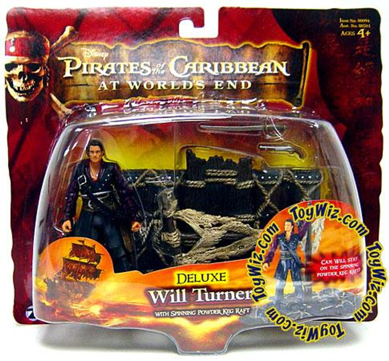 Pirates of the Caribbean At World's End Series 3 Will Turner Action Figure [Deluxe]