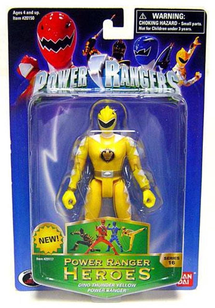 Power Rangers Power Ranger Heroes Series 16 Dino Thunder Yellow Ranger Action Figure