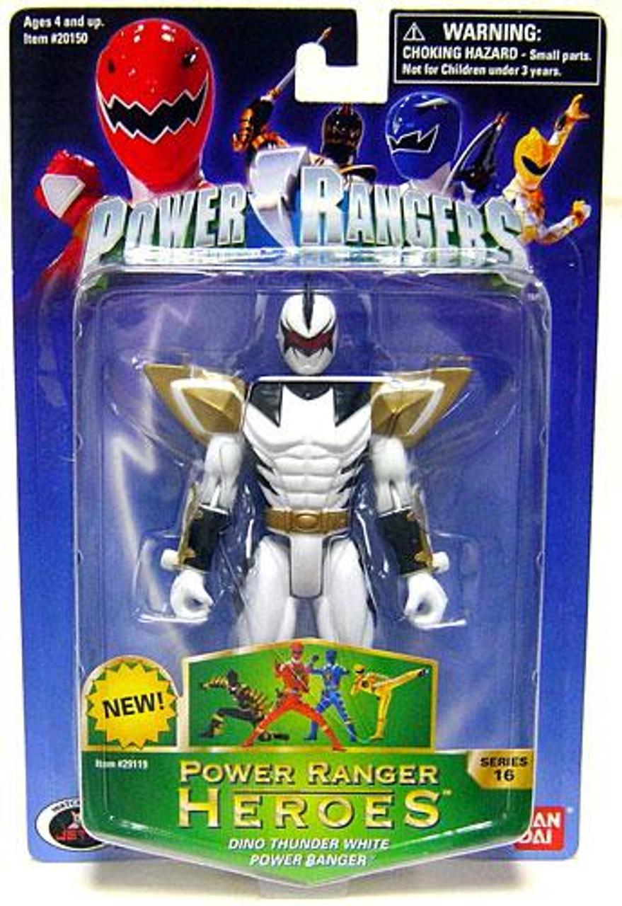 Power Rangers Power Ranger Heroes Series 16 Dino Thunder White Ranger Action Figure