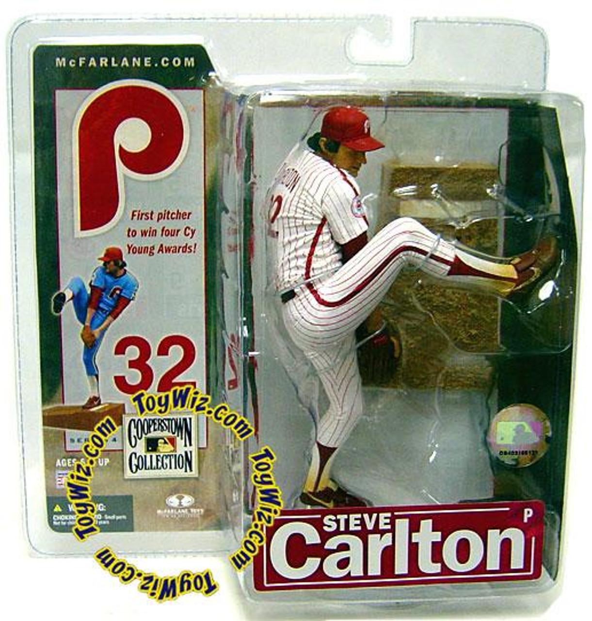 McFarlane Toys MLB Philadelphia Phillies Cooperstown Collection Series 4 Steve Carlton Action Figure [Pinstripes]