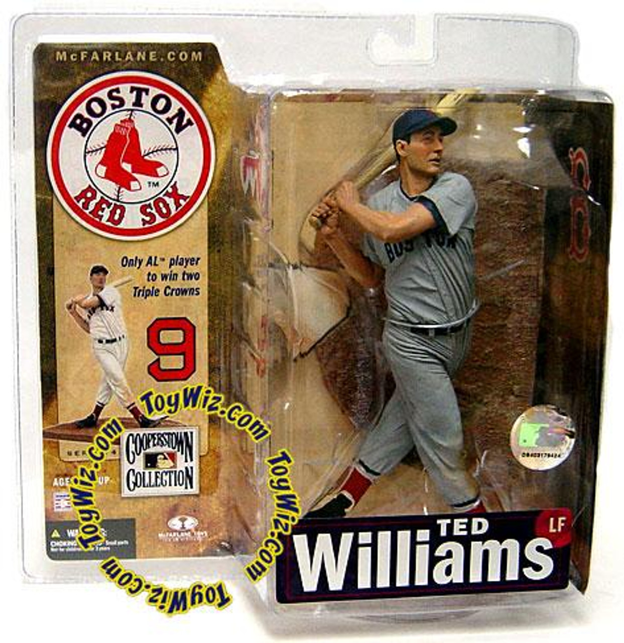 McFarlane Toys MLB Cooperstown Collection Series 4 Ted Williams (Boston Red Sox) Action Figure [Gray Uniform]