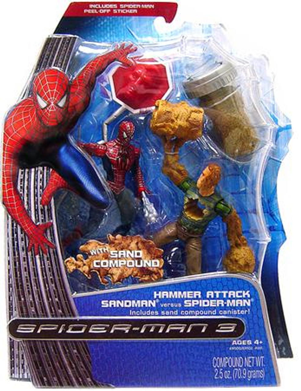 Spider-Man 3 Hammer Attack Sandman vs. Spider-Man Action Figure 2-Pack