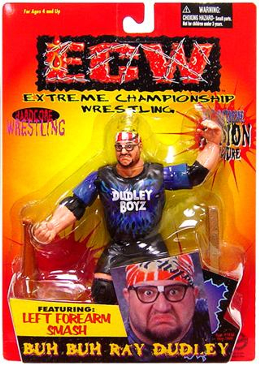 ECW Wrestling Champion Clashers Left Forearm Smash Buh Buh Ray Dudley Action Figure