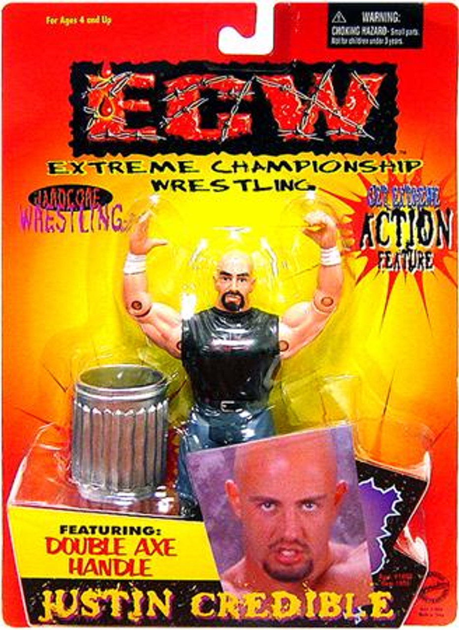 ECW Wrestling Champion Clashers Double Axe Handle Justin Credible Action Figure