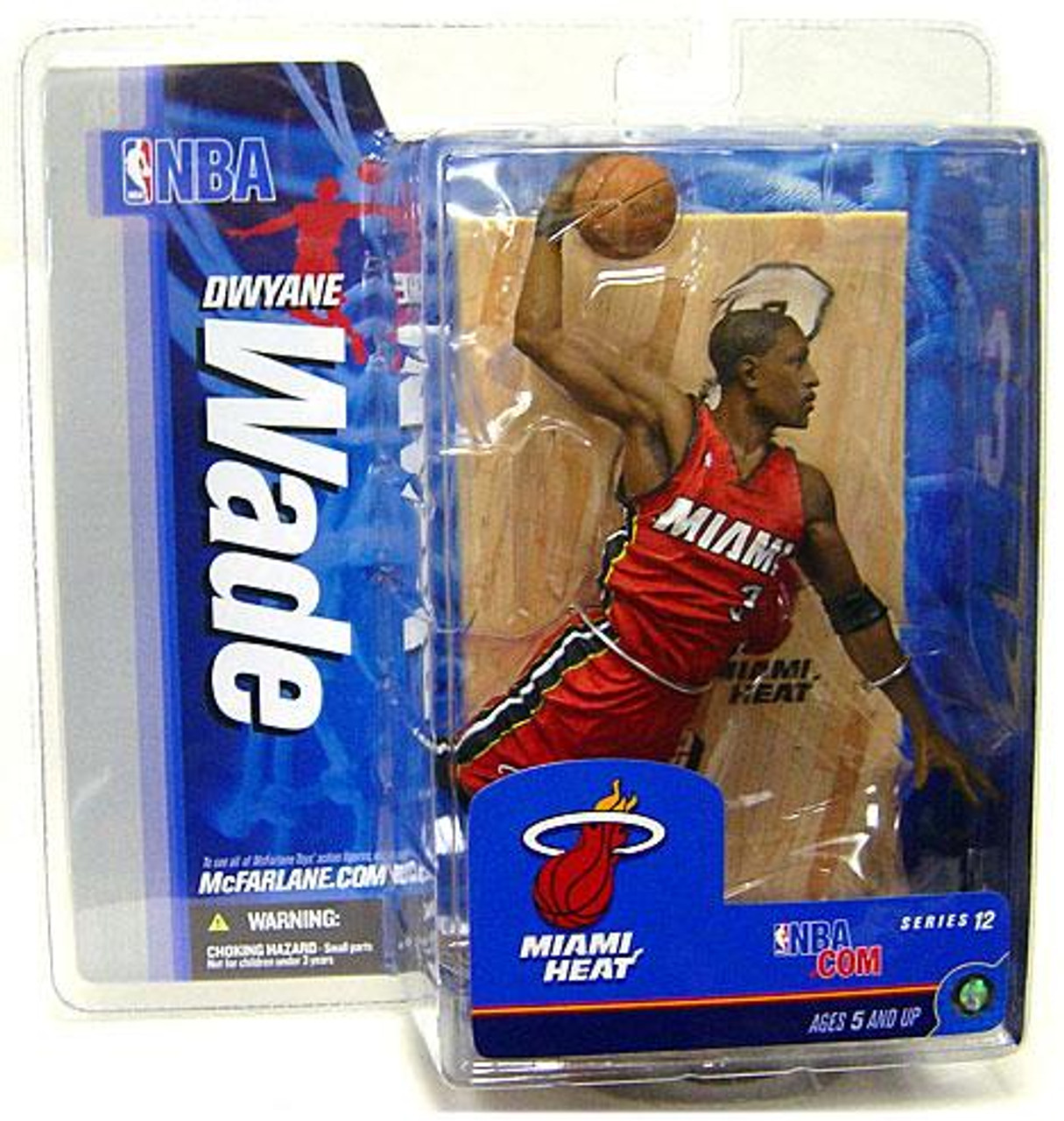 McFarlane Toys NBA Miami Heat Sports Picks Series 12 Dwyane Wade Action Figure [Red Jersey Variant]