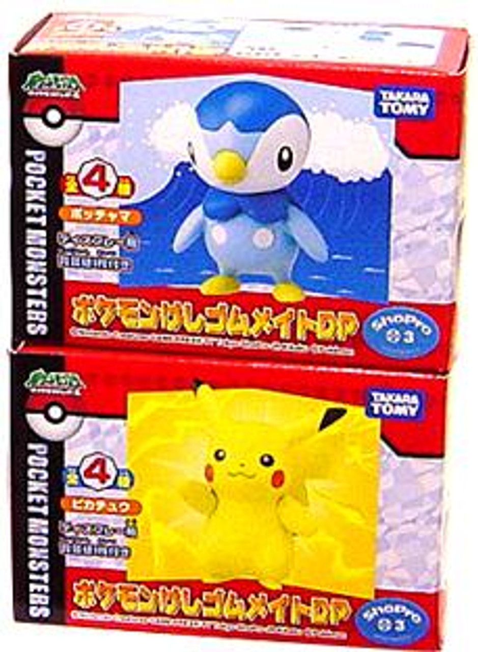 Pokemon Japanese Set of 2 Pikachu & Piplup PVC Figures