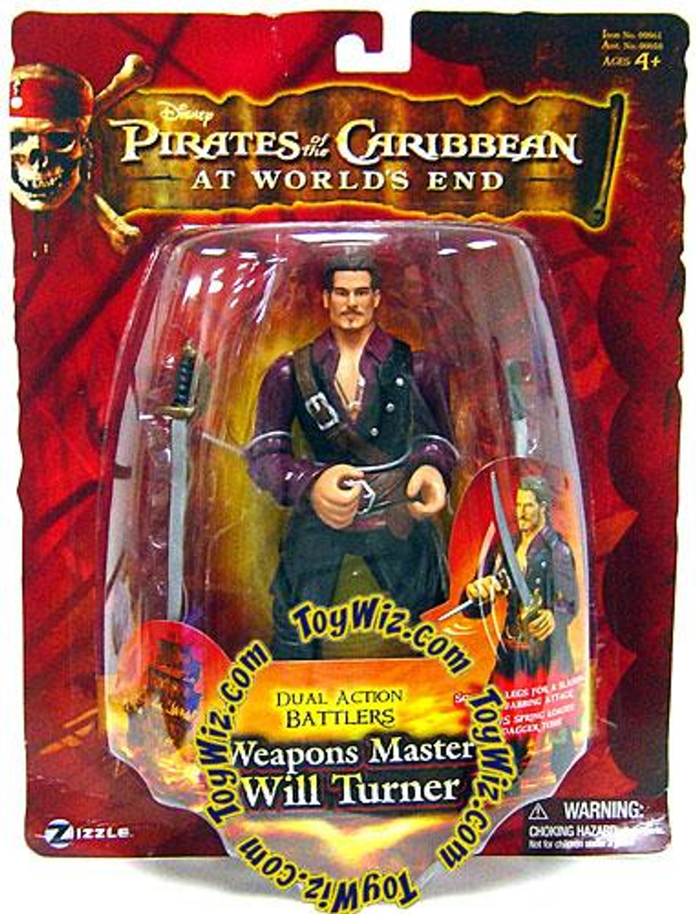 Pirates of the Caribbean At World's End Dual Action Battlers Will Turner Action Figure [Weapons Master]
