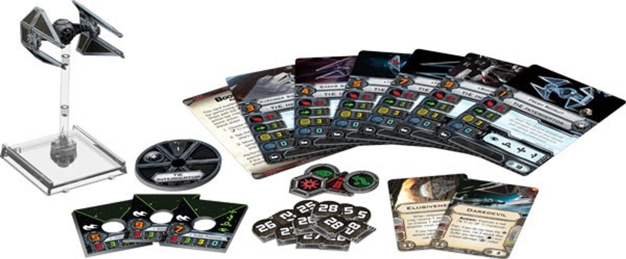 Star Wars X-Wing Miniatures Game TIE Interceptor Expansion Pack