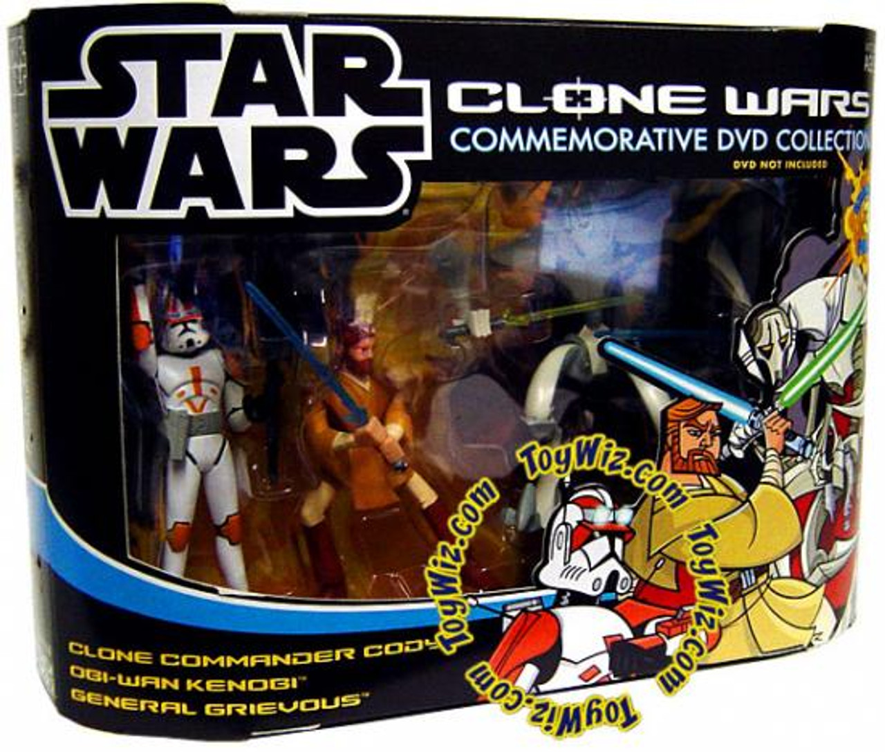 Star Wars The Clone Wars Clone Wars Cartoon Network Clone Wars Commemorative DVD Collection Exclusive Action Figure 3-Pack [Set #3]