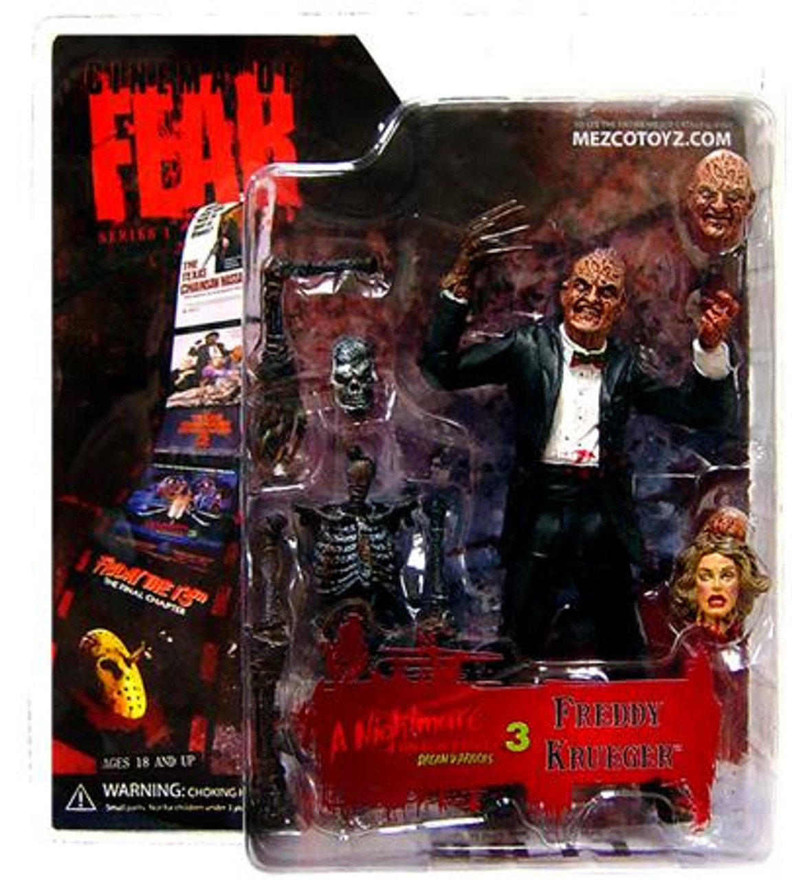A Nightmare on Elm Street Cinema of Fear Freddy Krueger Action Figure