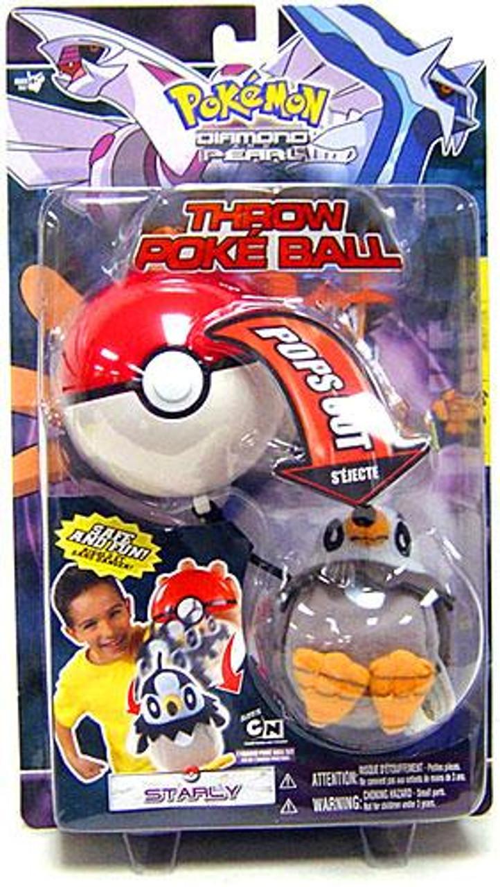 Pokemon Diamond & Pearl DP Series 1 Starly Throw Poke Ball Plush