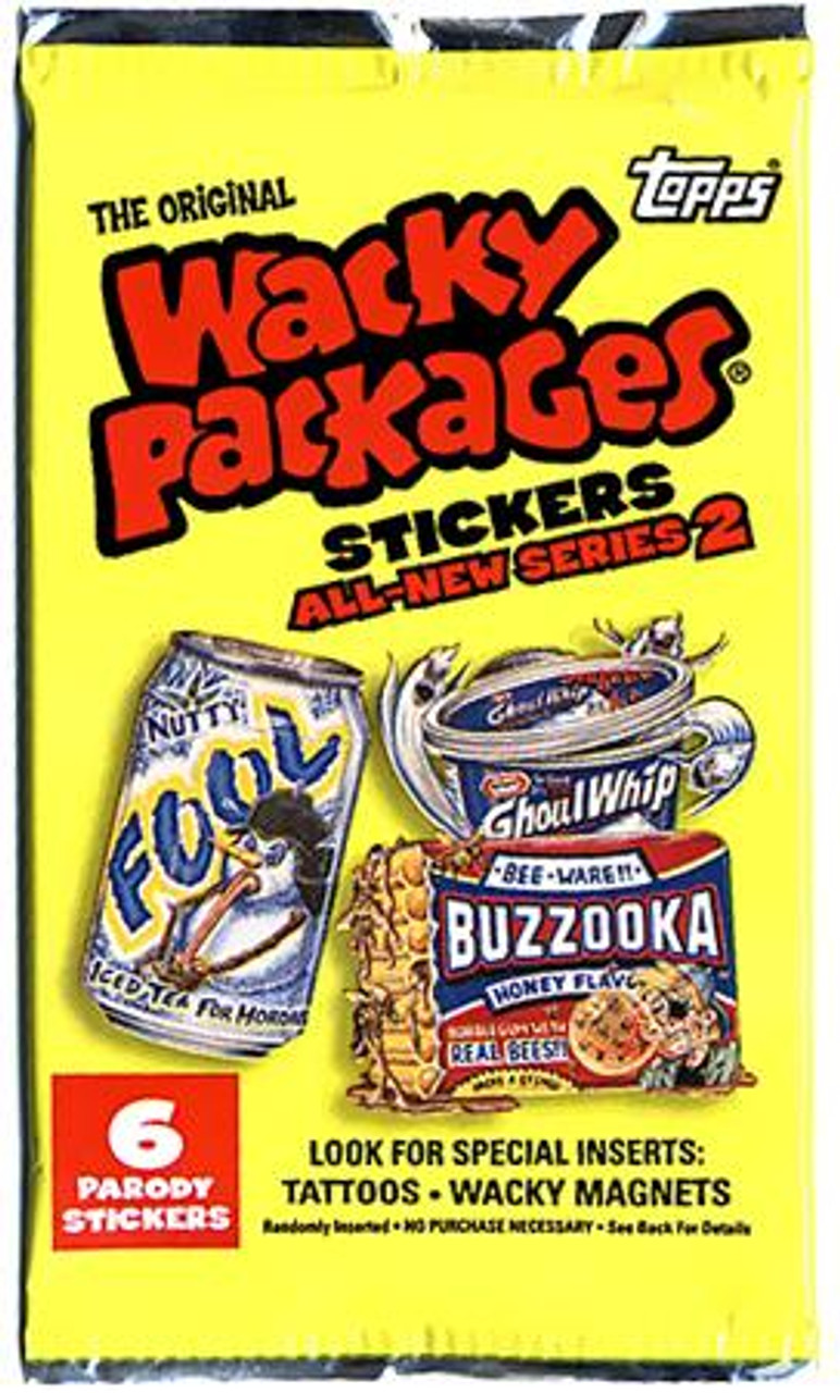 Wacky Packages Series 2 Trading Card Sticker Pack