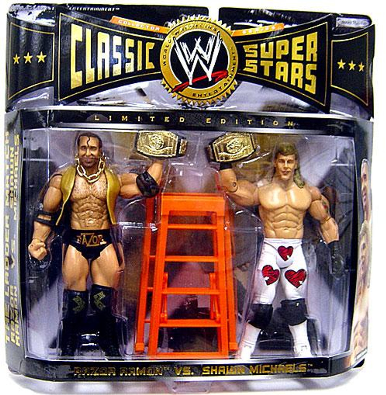 WWE Wrestling Classic Superstars Razor Ramon & Shawn Michaels Exclusive Action Figure 2-Pack