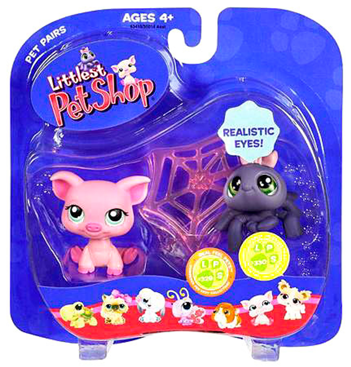 Littlest Pet Shop Pet Pairs Pig & Spider Figure 2-Pack