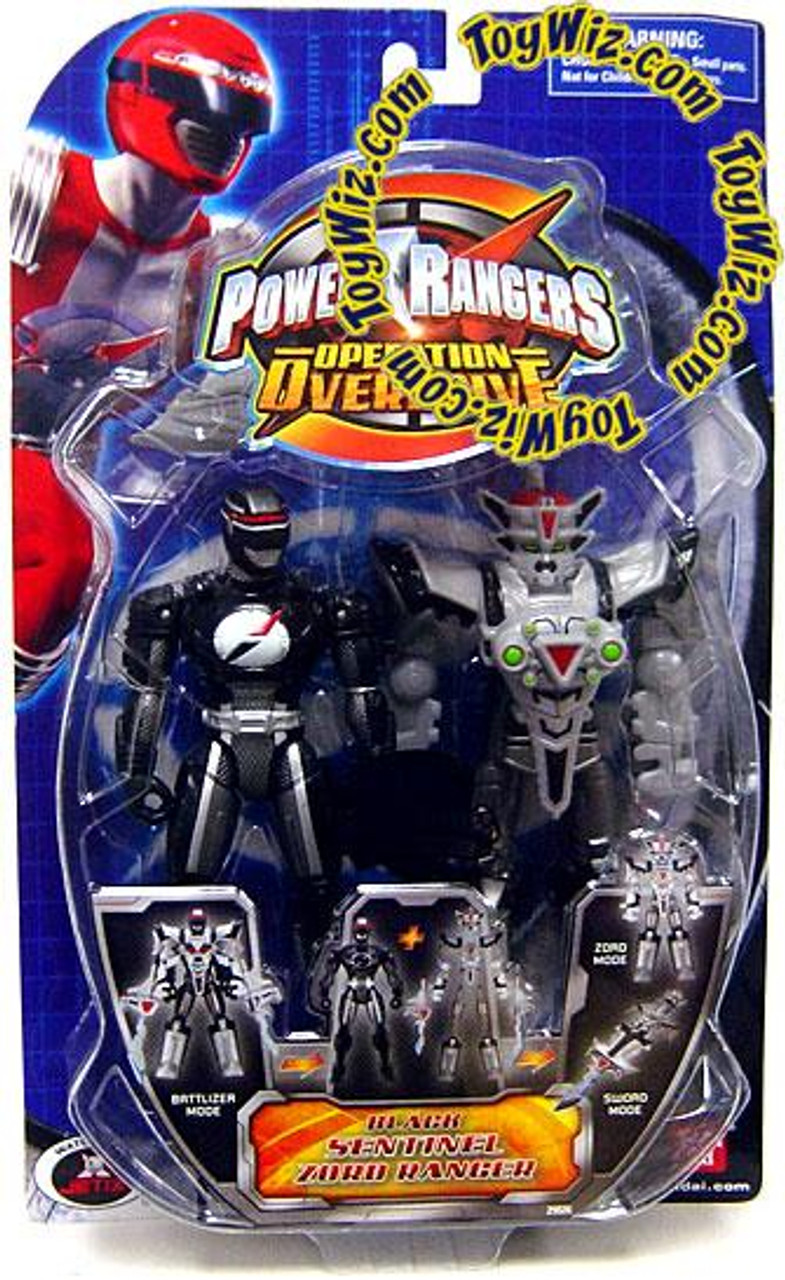 Power Rangers Operation Overdrive Black Sentinel Zord Ranger Action Figure