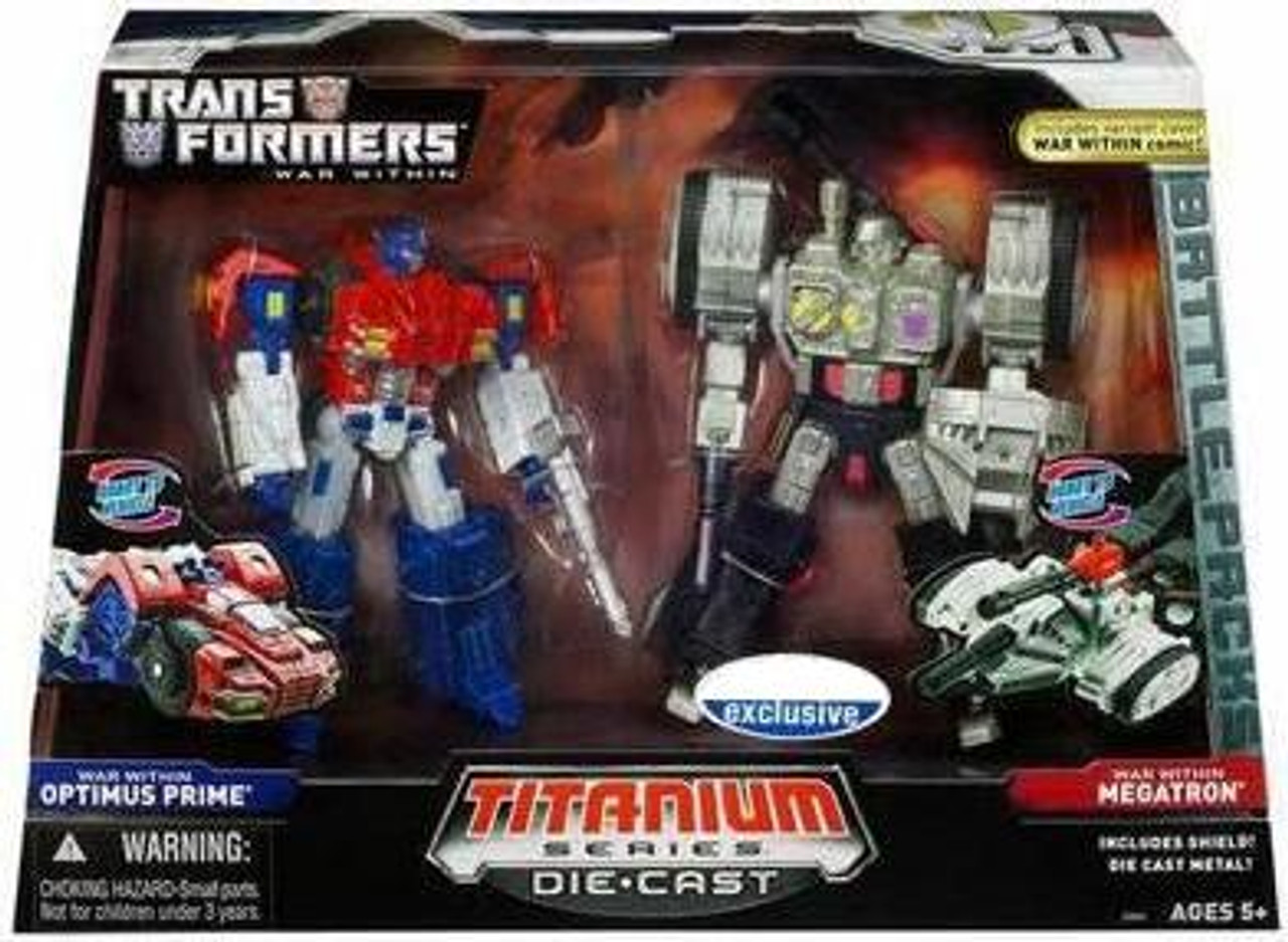 "Transformers War Within TItanium Series Optimus Prime & Megatron 6-Inch 6"" Diecast Figure"