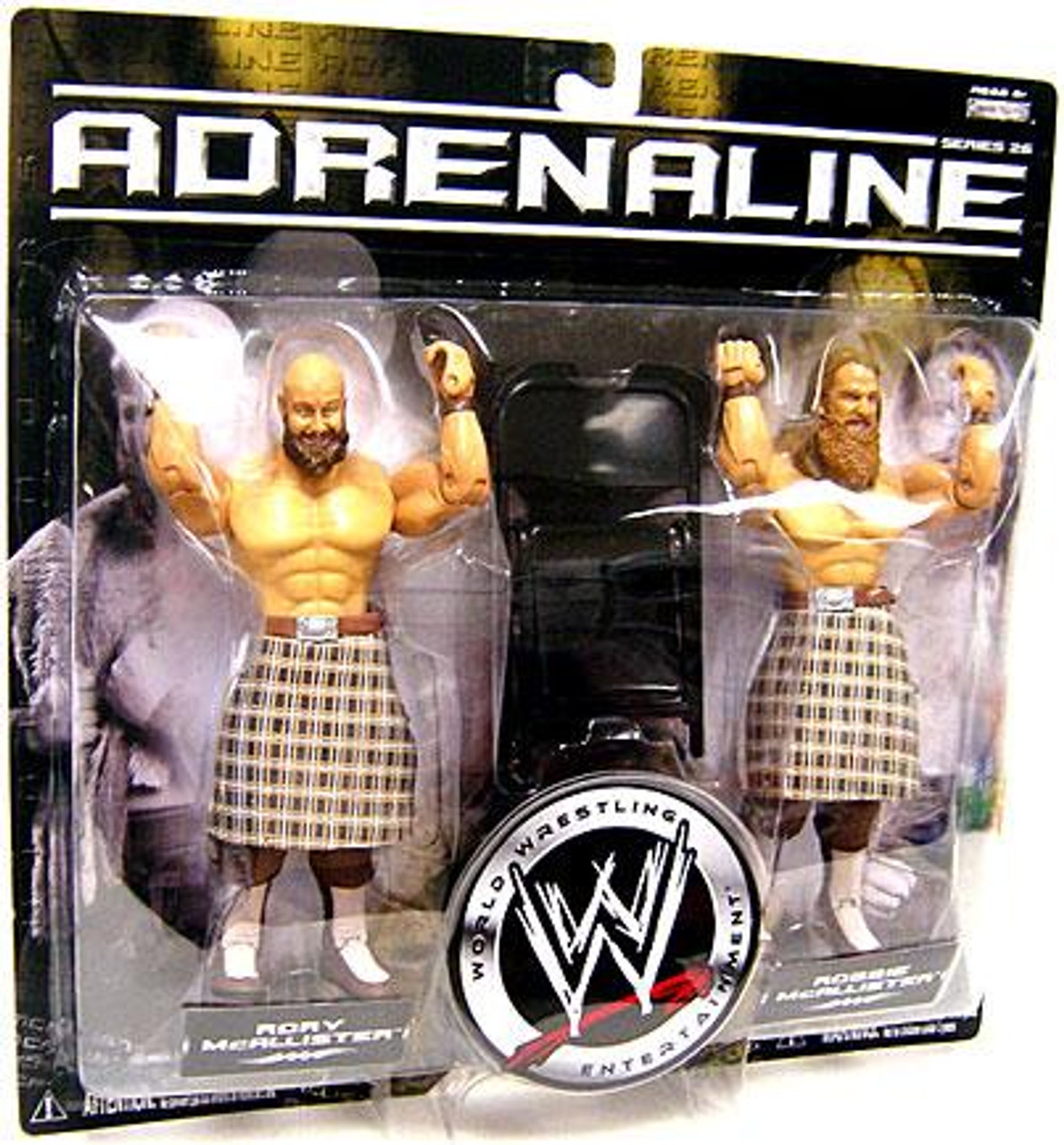 WWE Wrestling Adrenaline Series 26 Robbie & Rory McAllister Action Figure 2-Pack