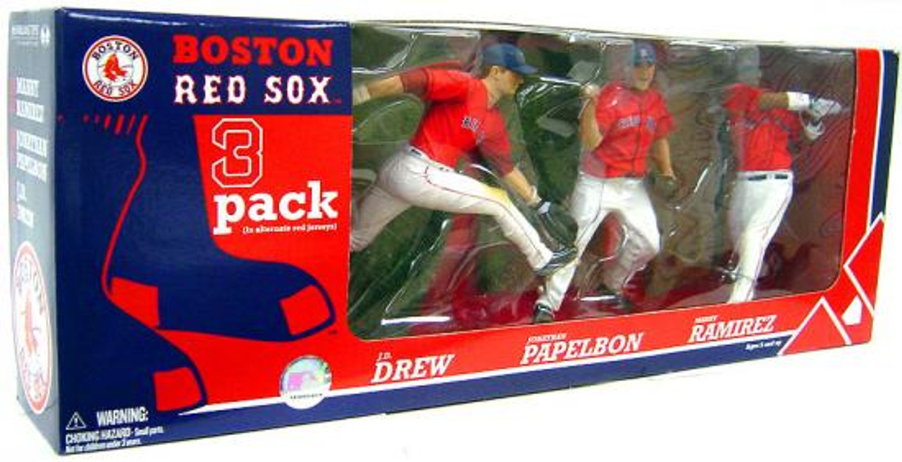 McFarlane Toys MLB Boston Red Sox Sports Picks Exclusive 3-Pack Manny Ramirez, Jonathan Papelbon & J.D. Drew Exclusive Action Figure 3-Pack