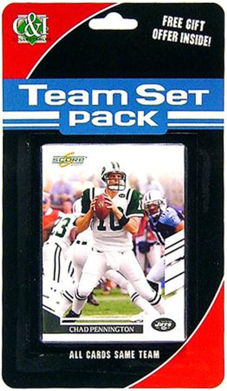 NFL 2007 Score Football Cards New York Jets Team Pack