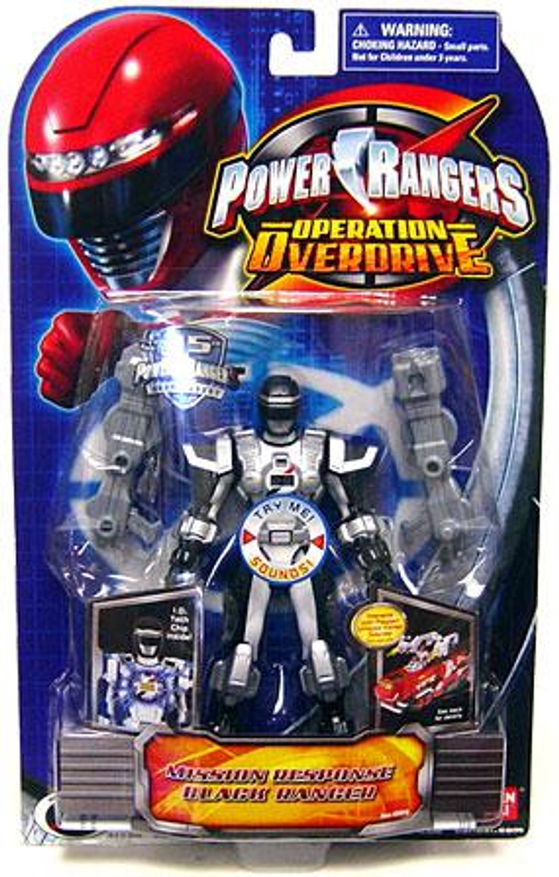 Power Rangers Operation Overdrive Mission Response Black Ranger Action Figure