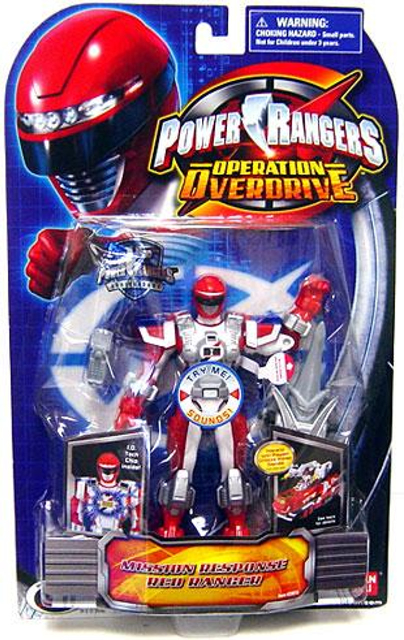 Power Rangers Operation Overdrive Mission Response Red Ranger Action Figure