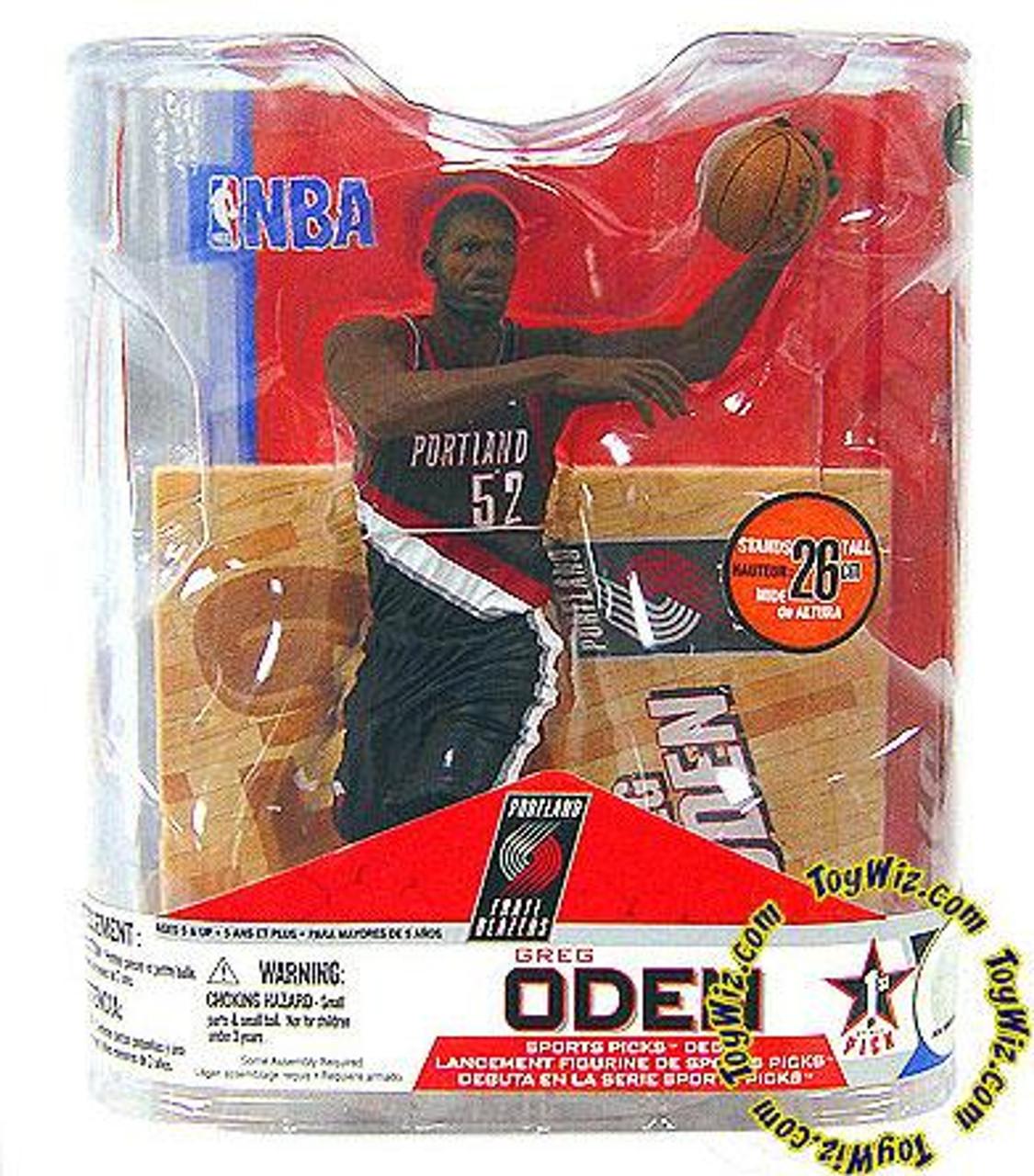 McFarlane Toys NBA Portland Trailblazers Sports Picks Series 14 Greg Oden Action Figure [Black Jersey]