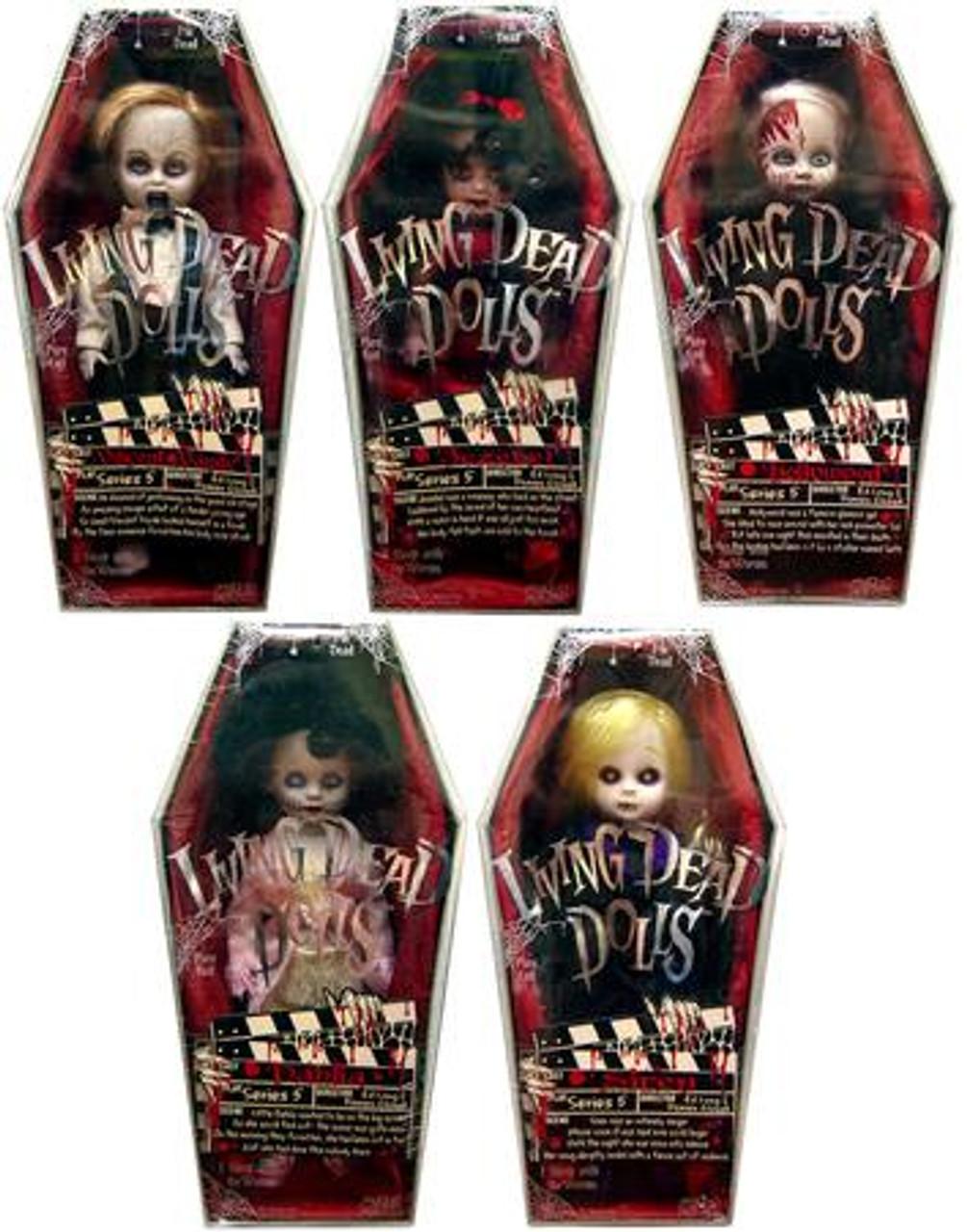 Living Dead Dolls Series 5 Set of 5 Dolls