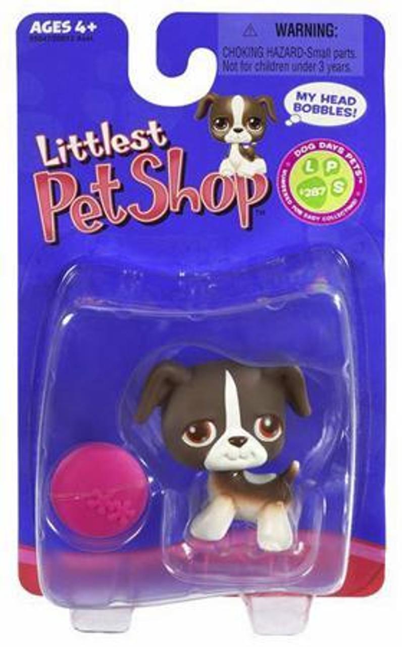 Littlest Pet Shop Mutt Figure #287 [Brown with Pink Frisbee]