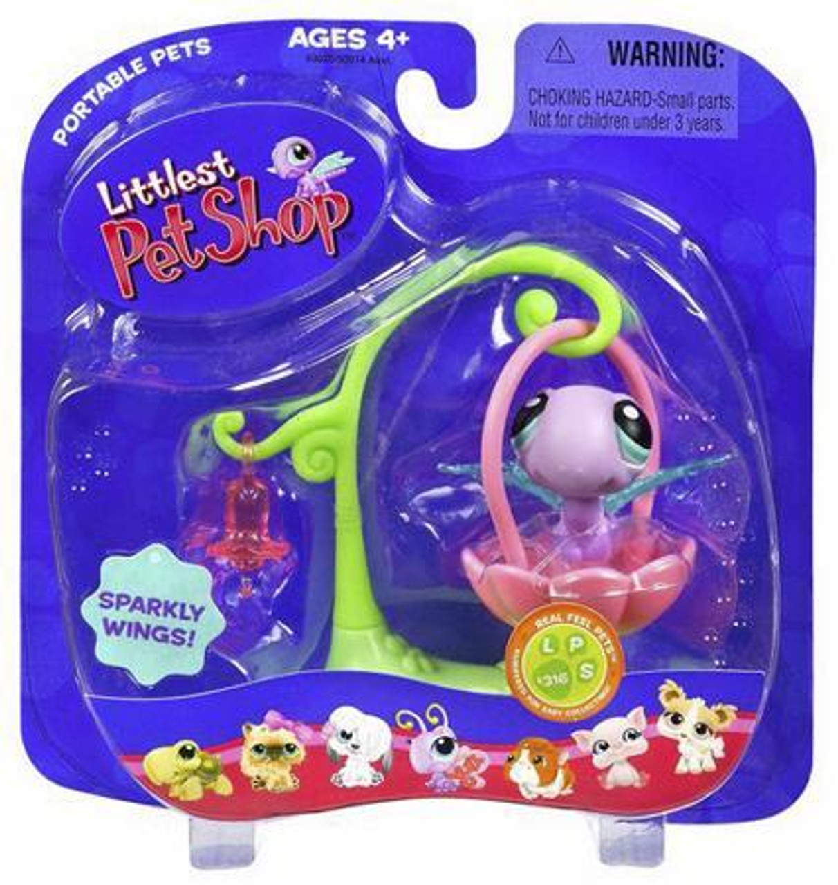 Littlest Pet Shop Portable Pets Dragonfly Figure #316 [With Swing]