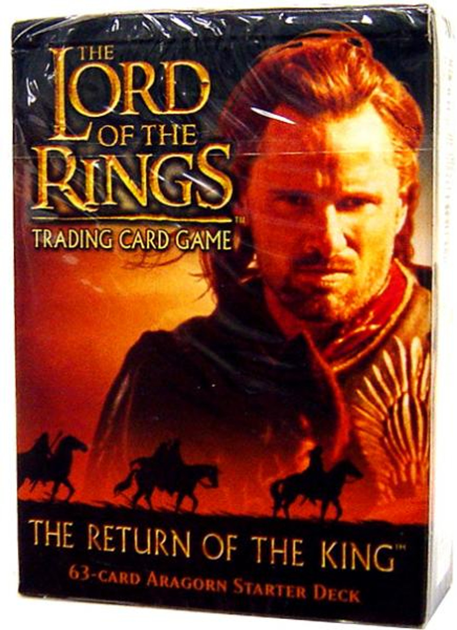 The Lord of the Rings Trading Card Game The Return of the King Aragorn Starter Deck