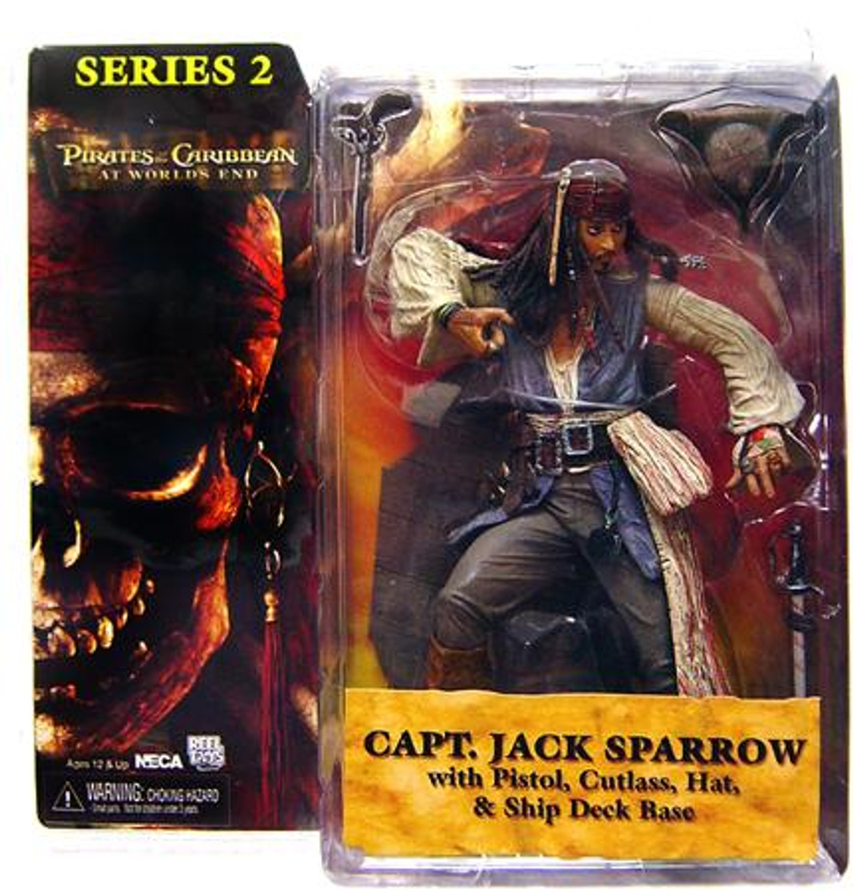 NECA Pirates of the Caribbean At World's End Series 2 Captain Jack Sparrow Action Figure [No Coat]
