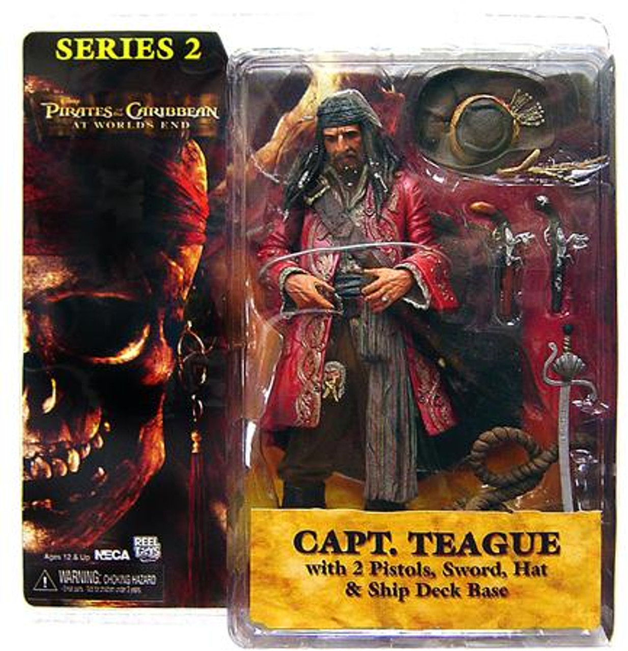 NECA Pirates of the Caribbean At World's End Series 2 Captain Teague Action Figure