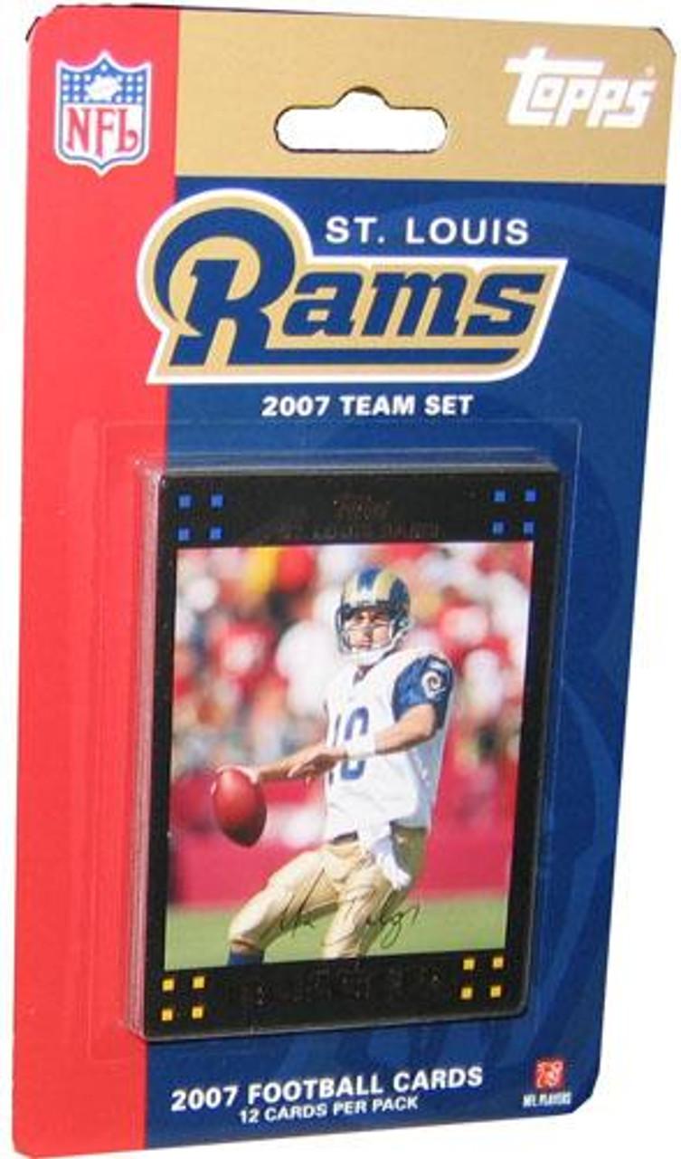 NFL 2007 Topps Football Cards St. Louis Rams Team Set