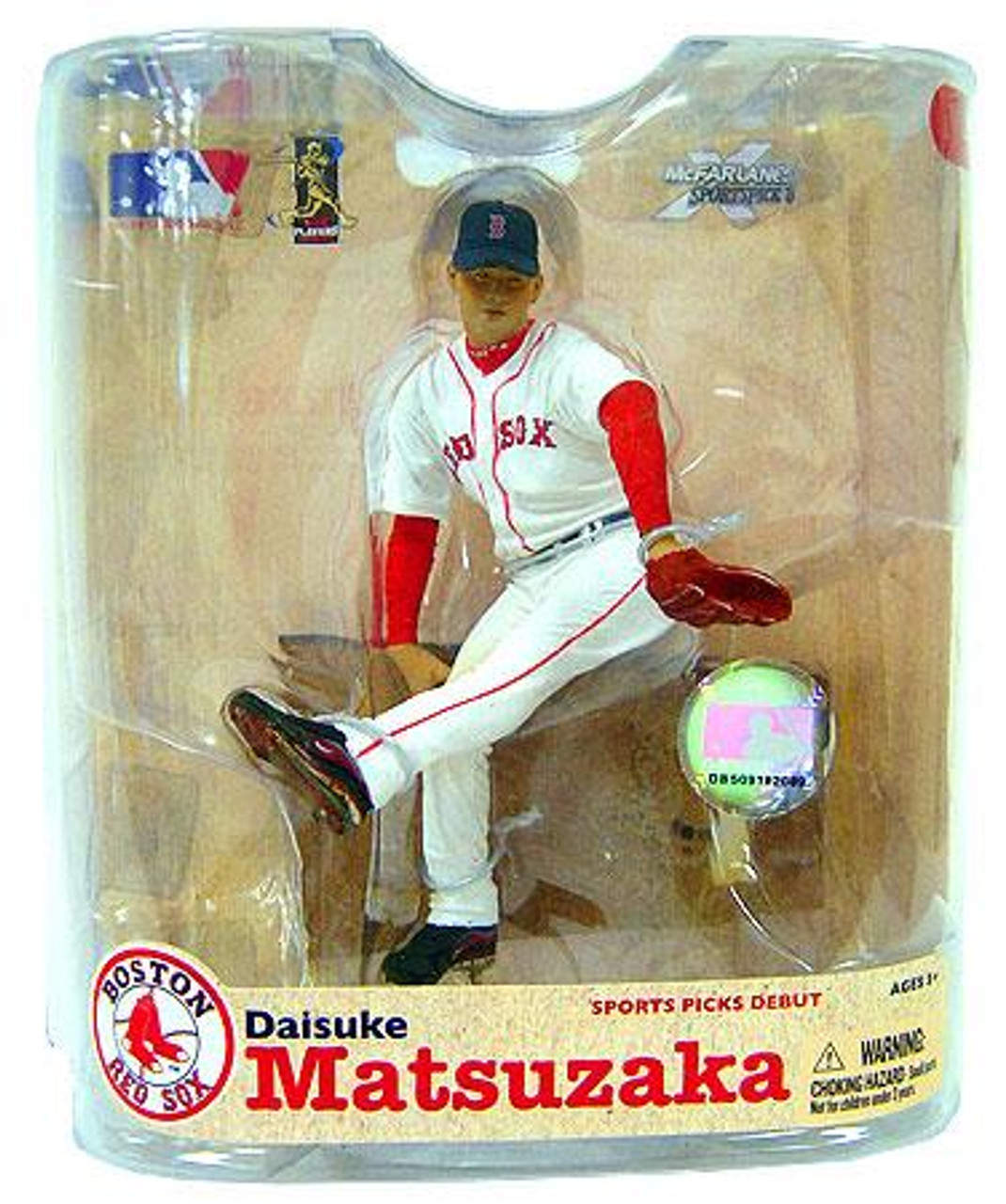 McFarlane Toys MLB Boston Red Sox Sports Picks Series 21 Daisuke Matsuzaka Action Figure [White Jersey No Patch]