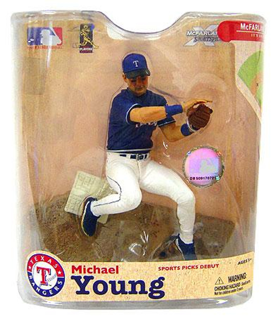 McFarlane Toys MLB Texas Rangers Sports Picks Series 21 Michael Young Action Figure
