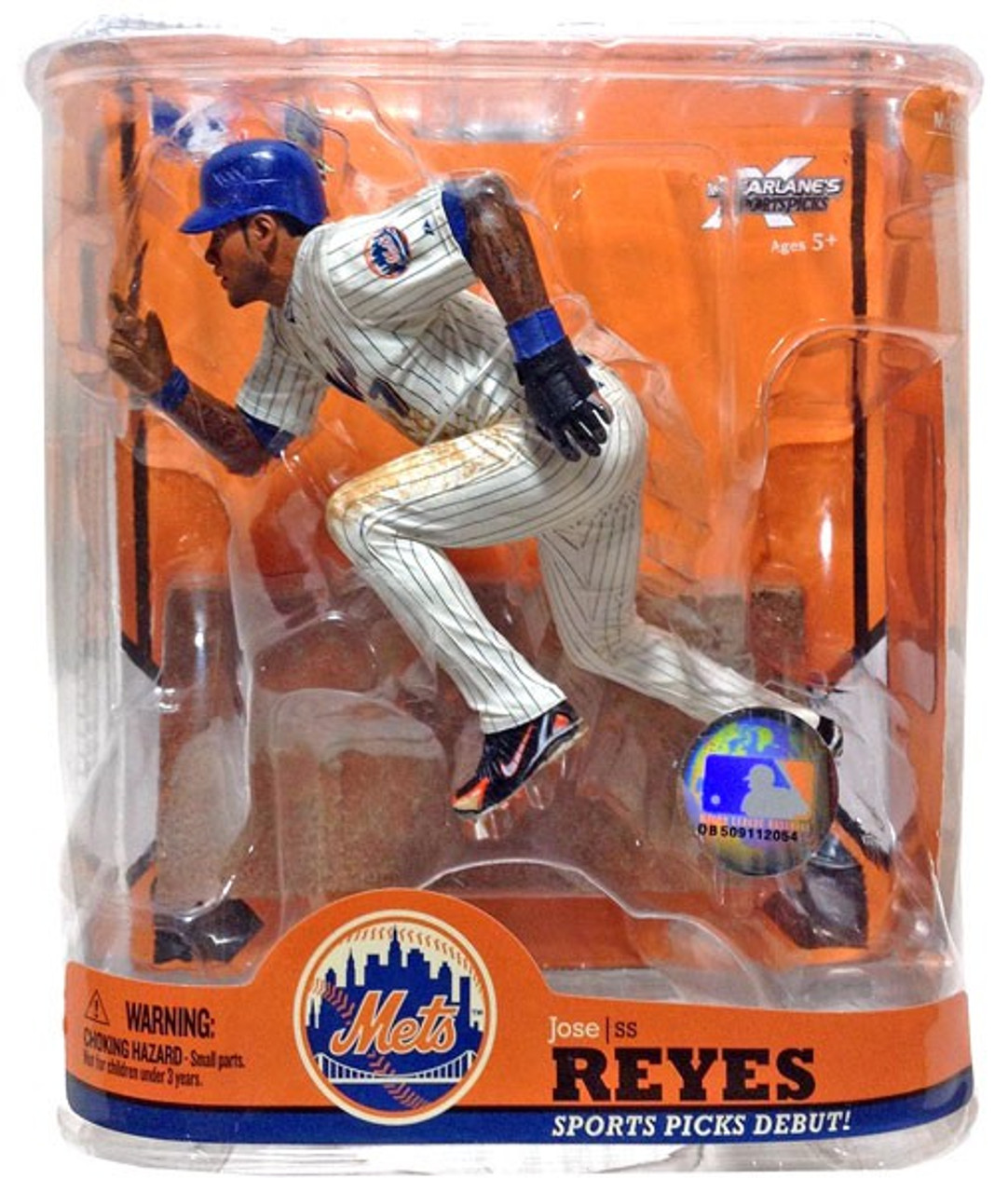 McFarlane Toys MLB New York Mets Sports Picks Series 22 Jose Reyes Action Figure [Blue Wristband]